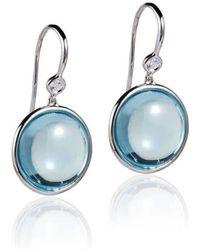 Goshwara - Mischief Blue Topaz Disc Earrings - Lyst