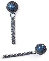 Sian Bostwick Jewellery Forget-me-not double Flower Drop Earrings glHtLqW