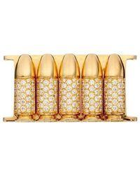 Akillis - Bang Bang Yellow Gold 5 Bullets Insert Bracelet - Lyst