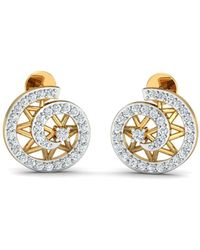 Diamoire Jewels 18kt Yellow Gold 0.26ct Pave Diamond Infinity Earrings sWLBAQ