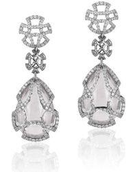 Goshwara - Freedom Moon Quartz Teardrop Cage Earrings - Lyst