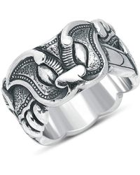 Suciyan - Dragon Knot Sterling Silver Ring - Lyst