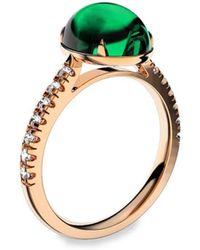 MARCELLO RICCIO - Emerald Diamond Ring - Cabochon - Lyst