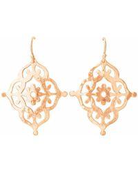Murkani Jewellery - Rose Gold Gypsy Earrings - Lyst