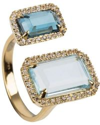 Emily Mortimer Jewellery - Electra Sky Blue And London Blue Topaz Ring - Lyst