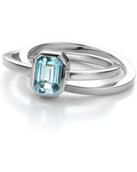 Jewellery Design Marie-Benedicte - Pure Line Ring In Gold And Aquamarine - Lyst