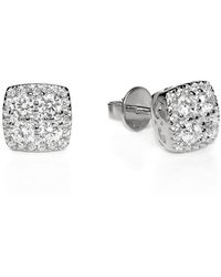 Lustre of London - White Square Cluster Studs - Lyst