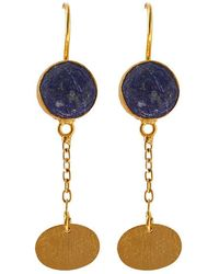 Isla Lapis Lazuli plate earring 56D9iXMi