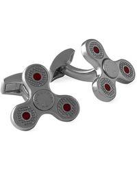 Tateossian - Gunmetal Triptych Spin Rotating Cufflinks | - Lyst