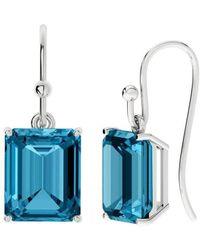 StyleRocks Onyx Emerald Cut Sterling Silver Drop Earrings NoTsI