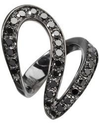 Dada Arrigoni Jewelry - Small Ivy Black Gold Ring - Lyst
