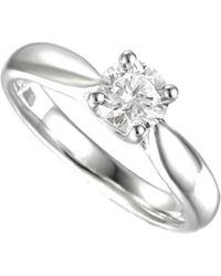 Amore Argento - Rhodium Plated Sterling Silver Give You My Heart Ring - Lyst