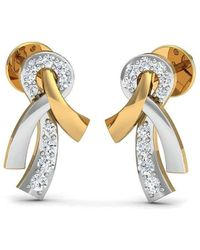 Diamoire Jewels Oval Cut Natural Aquamarine and Diamond Earrings in 18kt Yellow Gold zO7iP