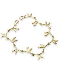 Serena Fox - Mandarin Leaf Yellow Gold Bracelet - Lyst