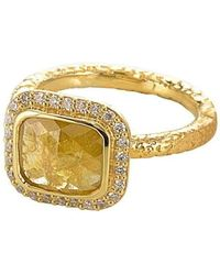 Susan Wheeler Design - Yellow Diamond Ring - Lyst