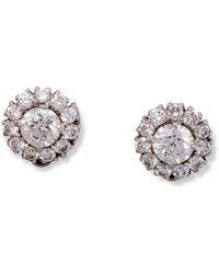 Katherine LeGrand Custom Goldsmith - White Gold & Diamond Aria Stud Earrings | Katherine Legrand - Lyst