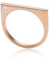 Neola - Minerva Gemstone Rose Gold Ring - Lyst