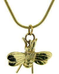 Will Bishop - Gold Vermeil Bee Charm - Lyst