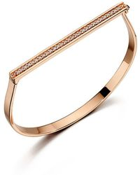 Fiorelli - Rose Gold Pave Hinged Bangle - Lyst