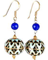 M's Gems by Mamta Valrani - Panache Hook Earrings With Blue Quartz - Lyst