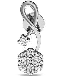 Diamoire Jewels - 17 Diamonds And Hand-carved 14kt White Gold Prong Diamond Earrings - Lyst