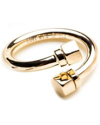 GHADA ALBUAINAIN - Pipe In Yellow Gold Twisted Ring - Lyst