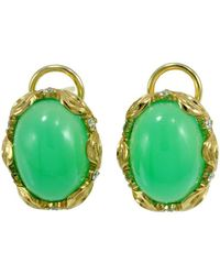 Alex Gulko Custom Jewelry - Chrysoprase Earrings - Lyst