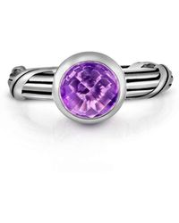Peter Thomas Roth Fine Jewelry | Fantasies Amethyst Sterling Solitaire Ring | Lyst