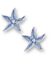 Nicole Barr - Silver Starfish Stud Earrings - Lyst