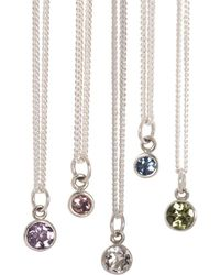 XISSJEWELLERY - Sequin And Birthstone Necklace - Lyst