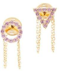 Eshvi - October Pink Tourmaline Earrings - Lyst