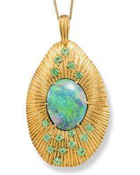 Katherine LeGrand Custom Goldsmith - Australian Opal Sunrise Necklace - Lyst