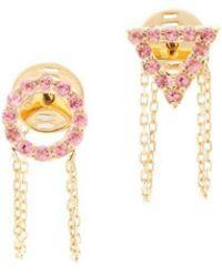 Eshvi - June Light Amethyst Earrings - Lyst