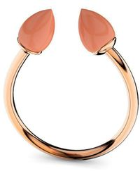 MARCELLO RICCIO - Rose Gold Plated Silver & Coral Ring - Lyst