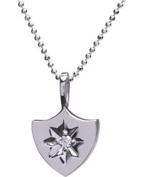 Alexis Kletjian - Lucky Star White Gold Shield Charm - Lyst