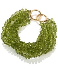 Mara Hotung - Peridot Bracelet 18kt Yellow Gold - Lyst