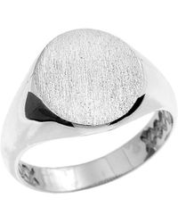 QP Jewellers - Oval Signet Ring In Sterling Silver - 2.8mm - Lyst