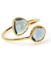 Black Betty Design - Gemini Ring With London Topaz - Lyst
