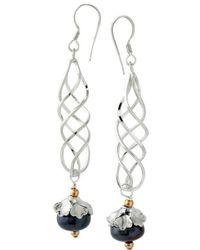 Elisa Ilana Jewelry - Spiral Pearl Earrings - Lyst