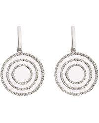 Emily Mortimer Jewellery - Echo Silver Drop Earrings - Lyst