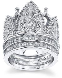 Cynthia Bach - Gothic Crown Ring With Diamonds - Lyst
