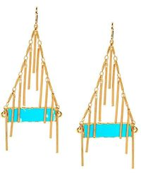 Devon Leigh | Turquoise Filigree Earrings | Lyst