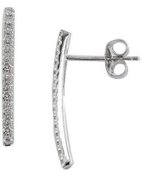 London Road Jewellery - Portobello White Gold Diamond Bar Geo Drop Earrings - Lyst
