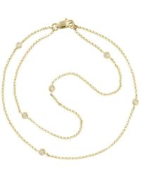 London Road Jewellery - Portobello Yellow Gold Diamond Raindrop Bracelet - Lyst