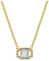 Amy Glaswand - Petite Edge Opal Pendant - Lyst