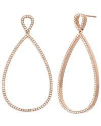 Nehita Jewelry - Pear Shape Rose Gold Diamond Earrings - Lyst