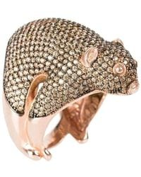 Latelita London Possum Ring Rose Gold Champagne Cubic Zirconia - UK P - US 7 1/2 - EU 56 1/2 pyVKYas