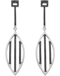 Ayalla Joseph - Shield Me Earrings White Gold - Lyst