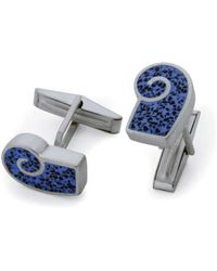 Jan D - Resin Inlay Cufflinks In Blue - Lyst