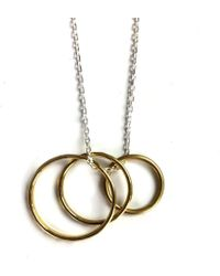 FRAN REGAN JEWELLERY - Pendant Vermeil Trio Loop On Silver Chain - Lyst